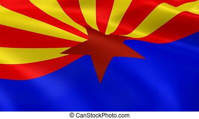 Arizonan flag in the wind
