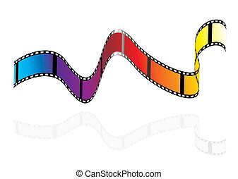 Modern rainbow film - Brightly colours camera film strip...