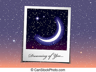 Space dream - Dreaming of you at night with stars and space...