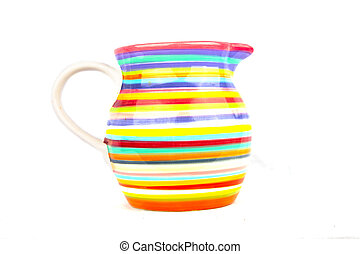 Colorful vase isolated on white background