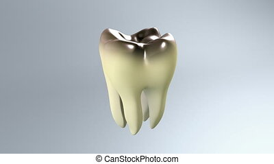 bad tooth white background - The bug of tooth for tooth care...