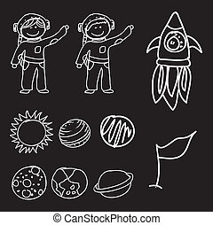 astronauts and rocket