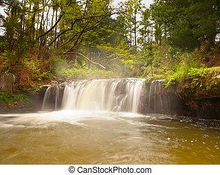 Thermal waterfall - Geothermal waterfall in kerosene creek...