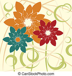 Stylized Flower background vector image.