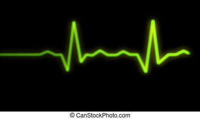 heart rythm on ecg monitor screen