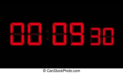 LED Countdown Red HD - Computer generated animation of...