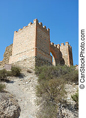 Watchtower - The remaining gate of Tabernas castle, Almeria,...