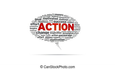 Action - Spinning Action Speech Bubble