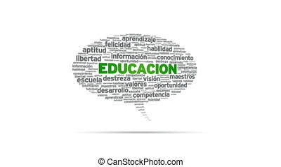 Educacion - Spinning Educacion Speech Bubble