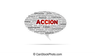 Accion - Spinning Accion Speech Bubble