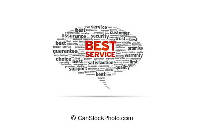 Best Service - Spinning Best Service Speech Bubble