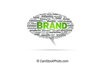 Brand - Spinning Brand Speech Bubble