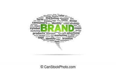Brand - Spinning Brand Speech Bubble.
