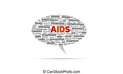 Aids - Spinning Aids Speech Bubble