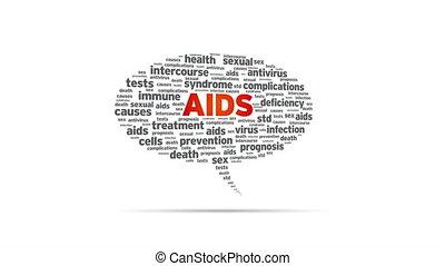 Aids - Spinning Aids Speech Bubble