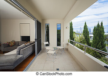 Stylish balcony - Luxurious balcony onverlooking the city
