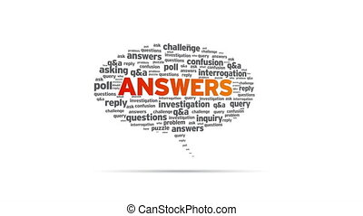 Answers - Spinning Answers Speech Bubble