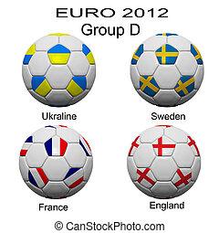 futbol, Pelota, final, equipo, Euro, 2012, categoría,...