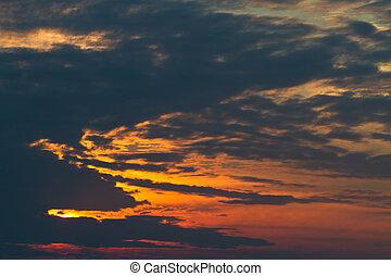 Abstract dragon cloud on sun set