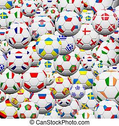 futbol, Pelota, final, equipo, Euro, 2012, Plano de fondo