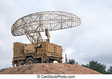 Military radar - Israeli military radar on the hill