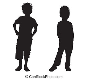 Silhouette small friends