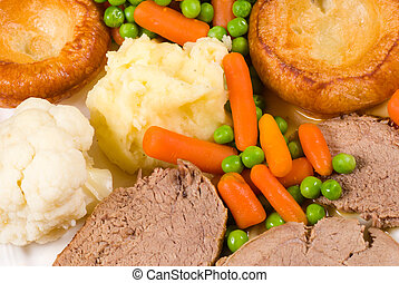 Traditional English Sunday lunch - Traditional English...