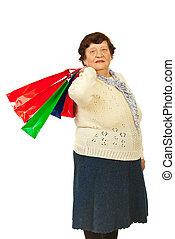 Elderly woman shopper