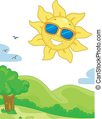 Sunny Day - Illustration Featuring a Sunny Day