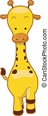 Giraffe - Illustration of a Walking Giraffe