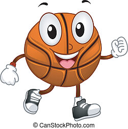 Basketball Mascot - Illustration of a Basketball Mascot...