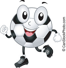 Soccer Ball Mascot - Illustration of a Soccer Ball Mascot...