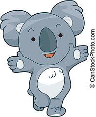 Friendly Koala - Illustration of a Friendly Koala Offering a...