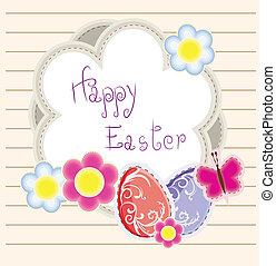 Easter holiday vector background