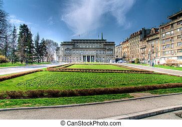 Belgrade parlament - Belgrade city parlament in HDR...