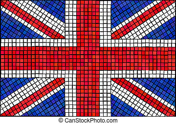 Union Jack mosaic - A Union Jack flag made from mosaic tiles...