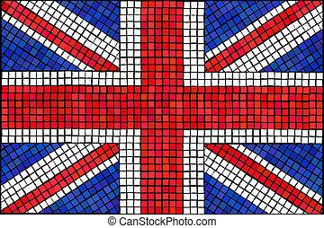 Union Jack mosaic