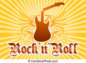 Rock and roll cool background - Music related background...
