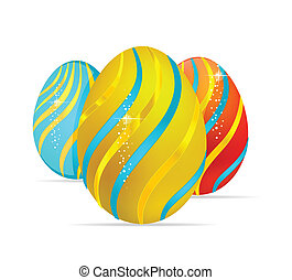 abstract and elegance easter egg symbols