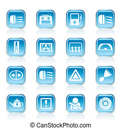 Car Dashboard icons - Car Dashboard - realistic vector icons...