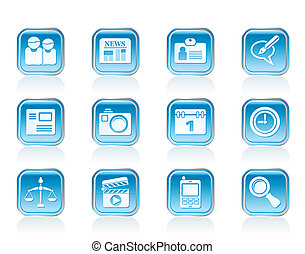 web site and business icons - web site, computer and...