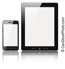 Modern digital devices - Modern digital tablet PC with...