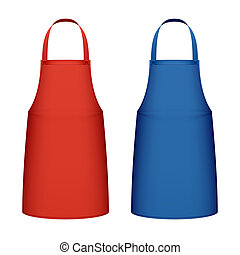 Kitchen apron - Red and blue kitchen aprons