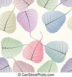 seamless colorful skeleton leaf background
