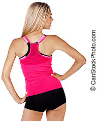 fit woman back