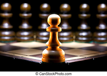 Opposition - It is a lot of chessmen on a chess board. (are...