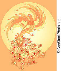 firebird - an illustration of a firebird with fiery wings...