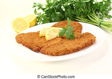 roasted Wiener Schnitzel - roasted wiener schnitzel with...