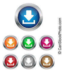 Download buttons - Collection of download buttons in various...