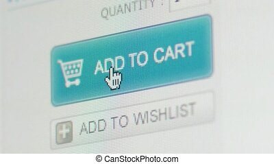 E-commerce, shopping on internet - Computer screen during...